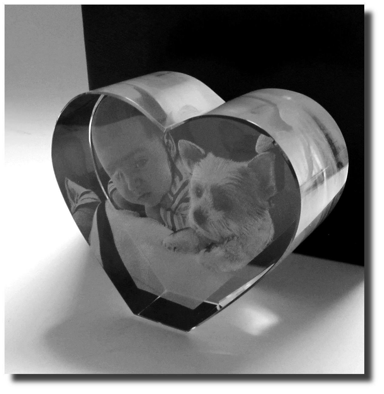 Blickfang Glasgravur Beste Wahl 3d Glasherz