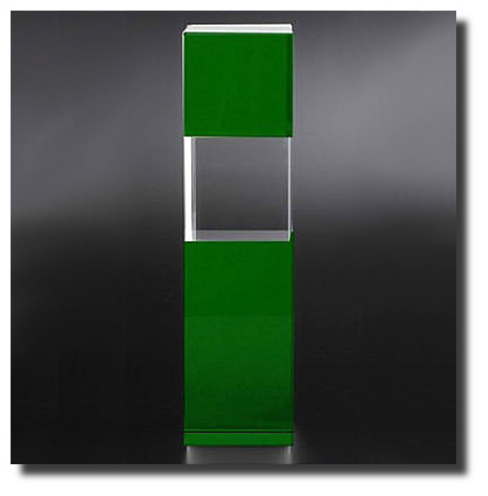 Glaspokal Cubix-green