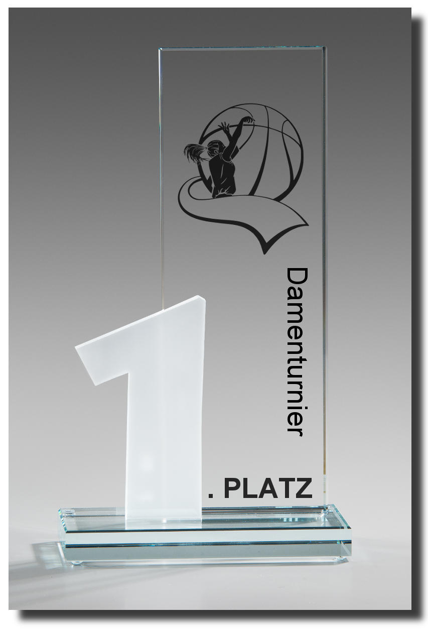 Glaspokal Sieger-Award-Basketball